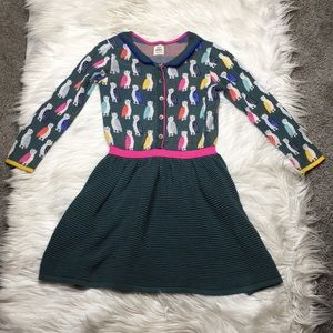 Mini Boden owl sweater dress